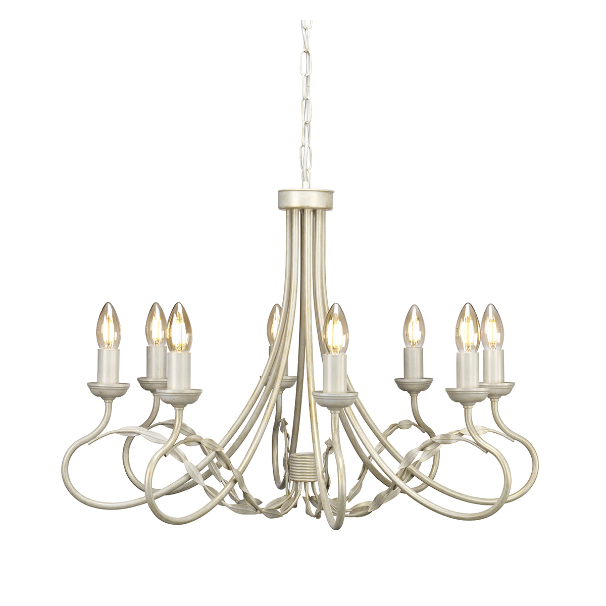 15626 8 Light Chandelier In Ivory Gold